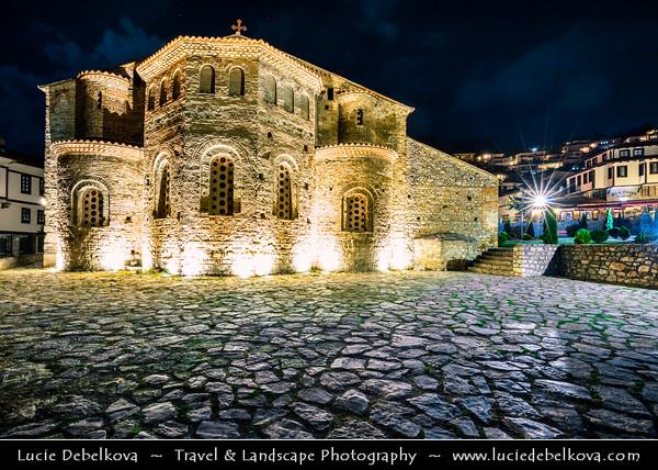 Europe - Macedonia - Ohrid - Historical town on shores of Lake Ohrid (Охридско Езеро, Ohridsko Ezero) - UNESCO Cultural & Natural World Heritage Site - Old Town - St. Sofia - Saint Sophia church - Црква Света Софија - Crkva Sveta Sofija - Traditional Eastern Orthodox monastery