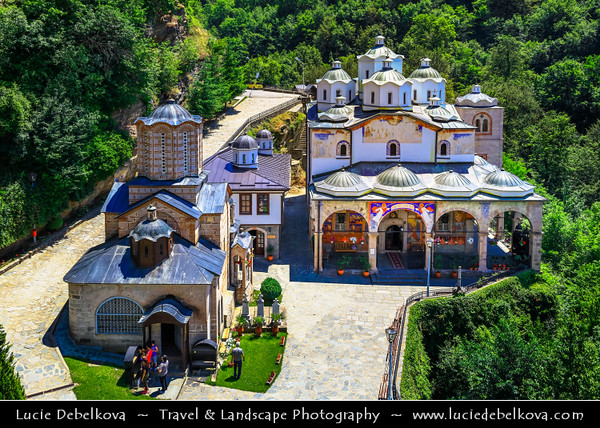 Europe - Macedonia - Osogovo Monastery - Осоговски Манастир - Osogovski Manastir - Macedonian Orthodox monastery near Kriva Palanka founded in 12th century - One of most beautiful monasteries in Macedonia hidden in tranquility and lush forests