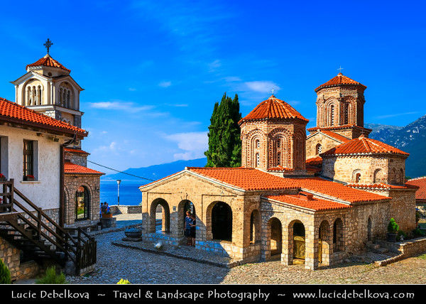 Europe - Macedonia - Monastery of Saint Naum - Манастир Свети Наум - Eastern Orthodox monastery on shores of Lake Ohrid - One of most popular tourist destinations in Macedonia