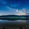 Europe - Macedonia - Mavrovo National Park - Национален парк Маврово - Mavrovo Lake - Мавровско Езеро - Mavrovsko ezero -  Night with Stars & Milky Way
