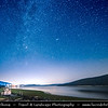 Europe - Macedonia - Mavrovo National Park - Национален парк Маврово - Mavrovo Lake - Мавровско Езеро - Mavrovsko ezero -  Night with Stars & Milky Way with Meteorite - Meteor - Falling star - Shooting star
