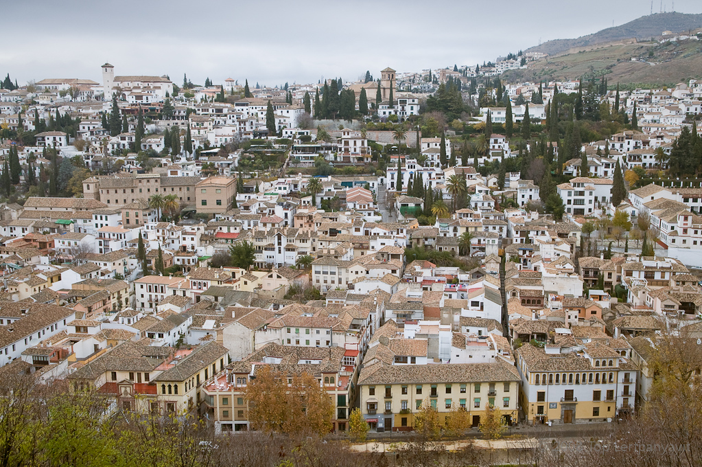 View of the Albayzín from the Alhambra
