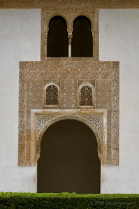 Entry way leading from the Court of Myrtles in the Alhambra