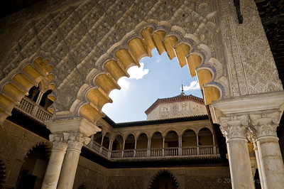 Mudéjar architecture in the Alcázares Reales in Sevilla