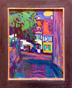 Kandinsky: Murnau, Houses in the Obermarkt