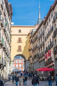 The view up Calle de Toledo to Plaza Mayor