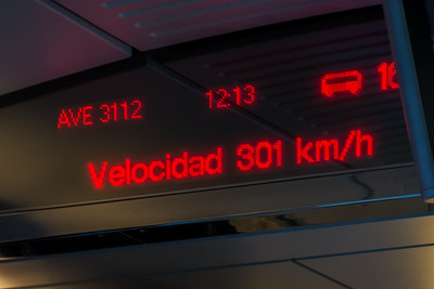 Fast train through Spain