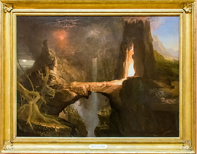 Thomas Cole: Expulsion. Moon and Firelight