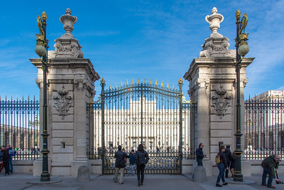Entrance gates to the Royal Palace of Madrid