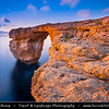 Southern Europe - Malta - Island of Gozo - Għawdex - Isle of Calypso - Small island of the Maltese archipelago in the Mediterranean Sea - Rocky Coastal Area around Azure Window - Tieqa Żerqa
