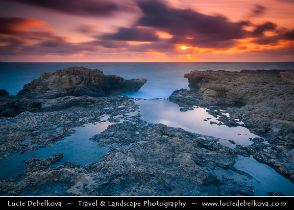 Southern Europe - Malta - Repubblika ta' Malta - Maltese archipelago in the Mediterranean Sea - Ċirkewwa - Harbour at the northernmost part of Malta - One of the most visited scuba diving sites on Maltese Islands with underwater cliffs, caves & tunnels