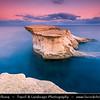 Southern Europe - Malta - Island of Gozo - Għawdex - Isle of Calypso - Small island of the Maltese archipelago in the Mediterranean Sea - Marsaskala - Marsascala - Xwejni Bay - Marsalforn - Fishing village & popular sea resort & its surrounding rocky coast at Early morning light