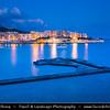 Southern Europe - Malta - Island of Gozo - Għawdex - Isle of Calypso - Small island of the Maltese archipelago in the Mediterranean Sea - Marsaskala - Marsascala - Xwejni Bay - Marsalforn - Fishing village & popular sea resort at Dawn - Twilight - Blue Hour