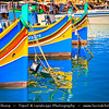 Southern Europe - Malta - Repubblika ta' Malta - Maltese archipelago in the Mediterranean Sea - Marsaxlokk - Il-Kunsill Lokali ta' Marsaxlokk - Traditional fishing village in south-eastern Malta famous for colourful traditional fishing boats (Luzzus) and relaxing atmosphere in the harbour