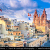 Southern Europe - Malta - Repubblika ta' Malta - Maltese archipelago in the Mediterranean Sea - Mellieha and its Parish Church of Mellieha - Large village in the northwestern part of Malta & Popular tourist destination during summer months