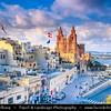 Southern Europe - Malta - Repubblika ta' Malta - Maltese archipelago in the Mediterranean Sea - Mellieha and its Parish Church of Mellieha - Large village in the northwestern part of Malta & Popular tourist destination during summer months