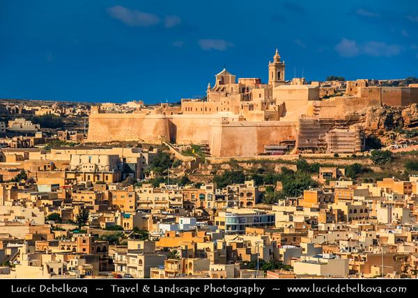 Southern Europe - Malta - Island of Gozo - Għawdex - Isle of Calypso - Small island of the Maltese archipelago in the Mediterranean Sea - Victoria - Città Victoria - Capital of Gozo - Rabat - Citadella (Citadel)