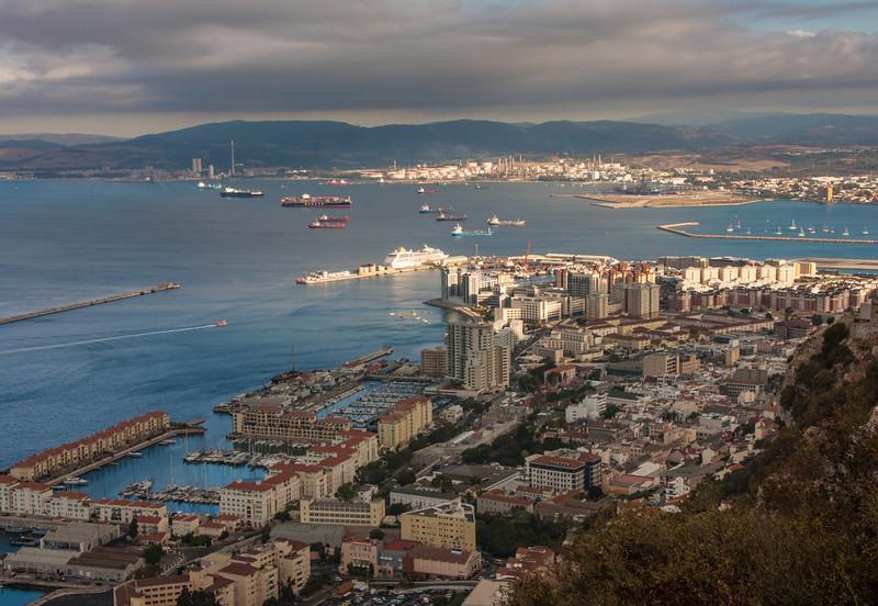 Gibraltar from the Queen's Balcony<br /> Gibraltar