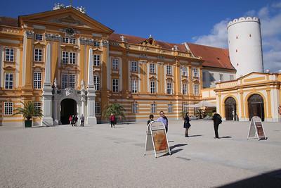 Front entrance of Melk Abbey