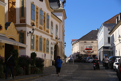 Strolling through the village of Melk, enroute to the Abbey