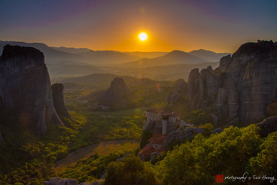 Sunset in Meteora