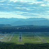 Milan Malpensa Airport with Alps in background