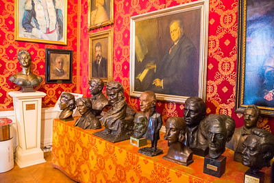 Busts of composers and musicians.