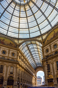 Inside the Galleria Vittorio Emanuele II. Quite the fancy mall