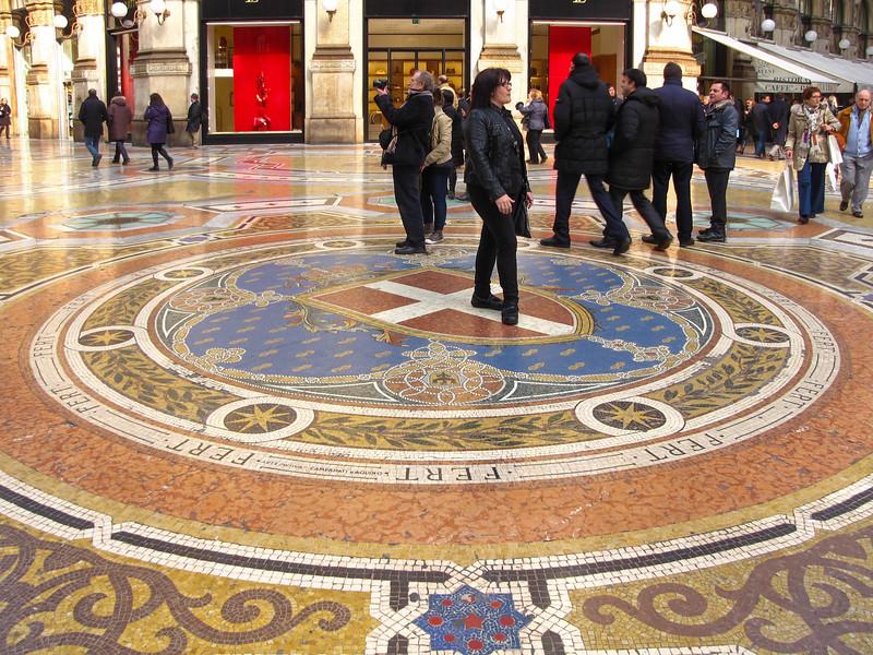 Inside the Galleria Vittorio Emanuele II