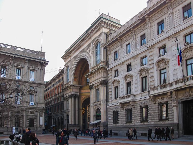 Piazza della Scala and Galleria Vittorio Emanuele II