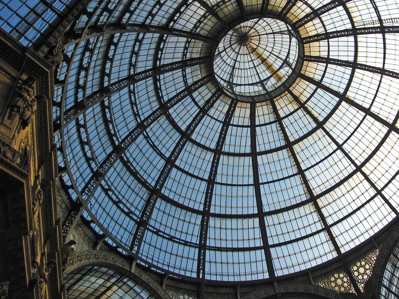 Glass dome over the Galleria Vittorio Emanuele II
