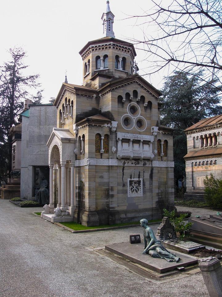 Inside the Cimitero Monumentale