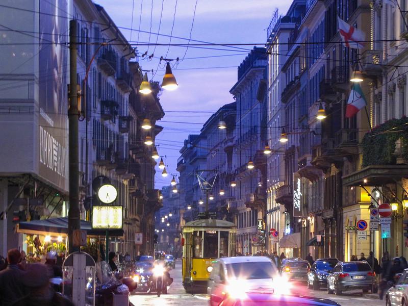 Streetcar on Via Alessandro Manzoni