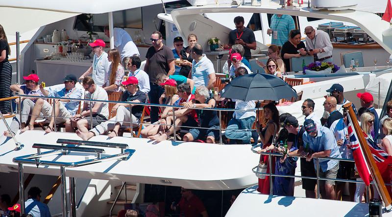 Harborside spectators