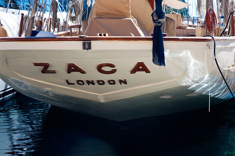 """The Zaca is a wooden-hulled, schooner-rigged yacht designed by Garland Rotch and completed in 1930 at Sausalito, California by Nunes Brothers Boat and Ways Co.<br /> <br /> Zaca was acquired in 1946 by Errol Flynn and is featured prominently in the 1947 Orson Welles film """"The Lady from Shanghai."""" <br /> <br /> Flynn owned the yacht until his death in 1959 and there are reports he still haunts it."""