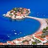 Europe - Montenegro - Crna Gora -  Црна Гора - Budvanska Rivijera - Sveti Stefan - Aman Sveti Stefan - Свети Стефан - Santo Stefano - Iconic small islet & hotel resort in the central part of Montenegro Adriatic coastline
