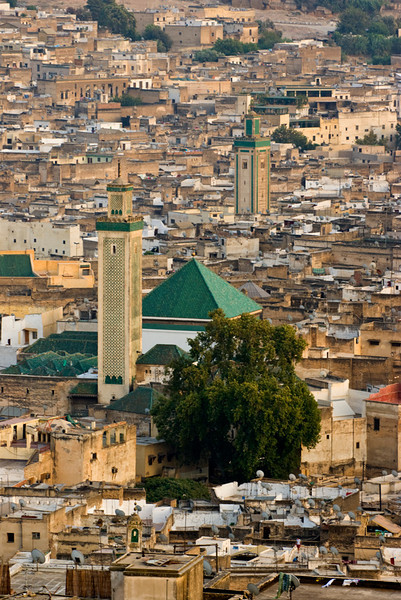 View from the hills surrounding Fez