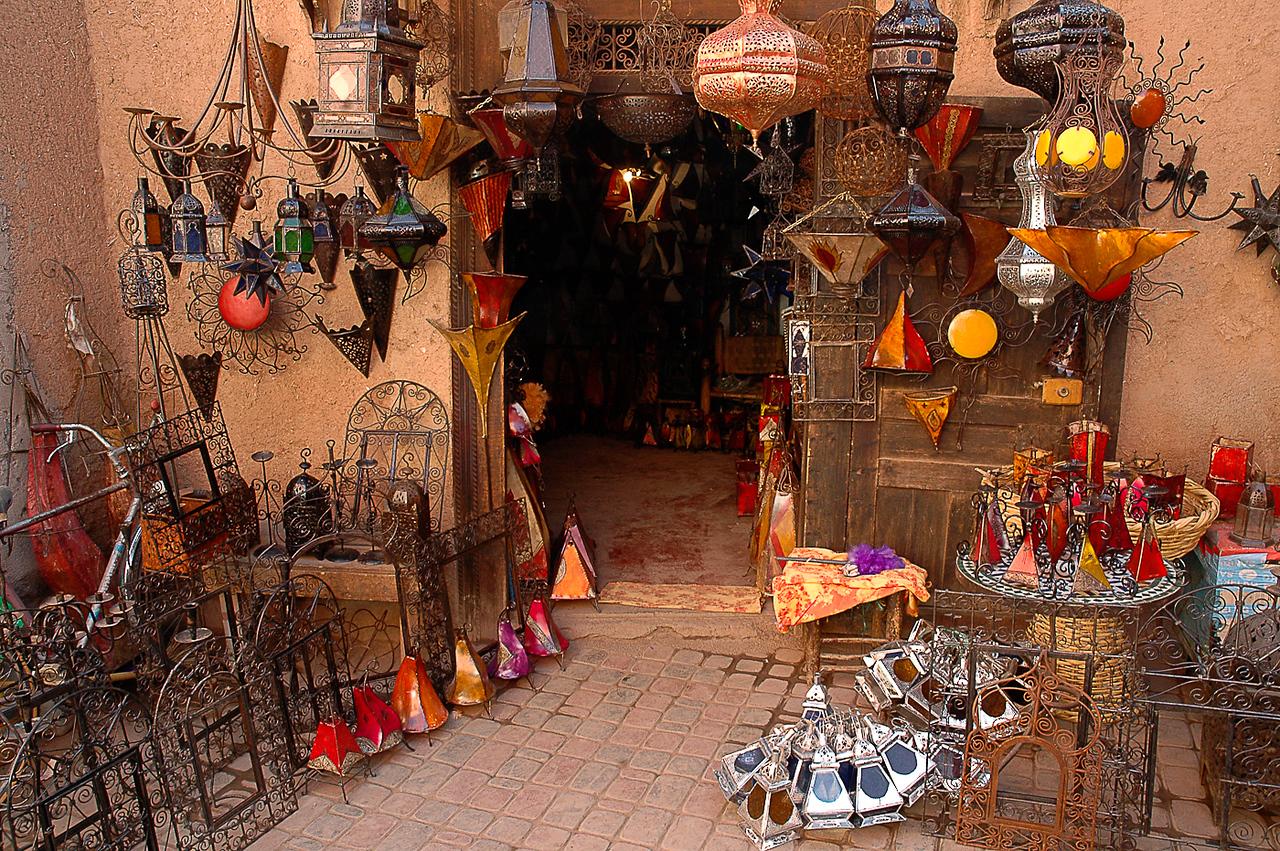 Wonderful shop in Marrakesh selling all sorts of trinkets