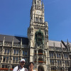 Michael and Robin at the Rathaus, in Munich