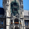 The Glockenspiel on the tower of the Rathaus, plays music, turns and has knight that joust at noon, with cuckoo that comes out at the end (12:15).