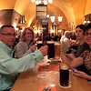 first evening in Germany - having a beer and dinner at the Barfüßer im Mautkeller, in Nuremberg.