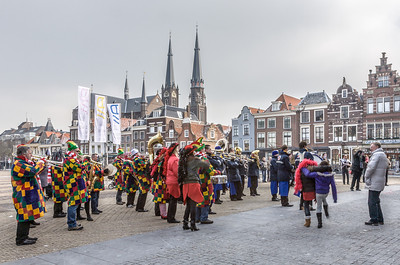 Main Plaza with Carnaval Band, Delft, Holland, 2010