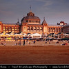 Netherlands - Scheveningen - Modern seaside resort on Shores of the North Sea with a long sandy beach, esplanade, pier & lighthouse - Sunset time <br /> <br /> Camera Model: Canon EOS 5D Mark II; Lens: 28.00 - 300.00 mm; Focal length: 77.00 mm; Aperture: 7.1; Exposure time: 1/125 s; ISO: 320