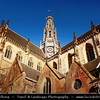 Netherlands - Haarlem - Historical center of the tulip bulb-growing district for centuries - Bloemenstad - Flower city - Sint-Bavokerk Church on the Grote Markt <br /> <br /> Camera Model: Canon EOS 5D Mark II; Lens: 17.00 - 40.00 mm; Focal length: 36.00 mm; Aperture: 10; Exposure time: 1/80 s; ISO: 100
