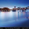 Netherlands - Scheveningen - Modern seaside resort on Shores of the North Sea with a long sandy beach, esplanade, pier & lighthouse - Twilight - Dusk - Blue Hour <br /> <br /> Camera Model: Canon EOS 5D Mark II; Lens: 17.00 - 40.00 mm; Focal length: 22.00 mm; Aperture: 10; Exposure time: 32.0 s; ISO: 100
