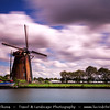 Europe - Netherlands - Nederland - North Holland - Noord Holland Province - Westeinderplassen lake Area - West End Lakes - Complex of lakes belonging mostly to the territory of Aalsmeer - Largest open water of the Randstad - Traditional Windmill