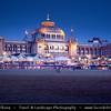 Netherlands - Scheveningen - Modern seaside resort on Shores of the North Sea with a long sandy beach, esplanade, pier & lighthouse - Twilight - Dusk - Blue Hour <br /> <br /> Camera Model: Canon EOS 5D Mark II; Lens: 28.00 - 300.00 mm; Focal length: 84.00 mm; Aperture: 16; Exposure time: 32.0 s; ISO: 50