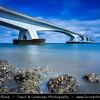 Europe - Netherlands - Nederland - Zeeland Province - Sea-land - Zealand - Zeeland Bridge - Zeelandbrug - Longest bridge in the Netherlands