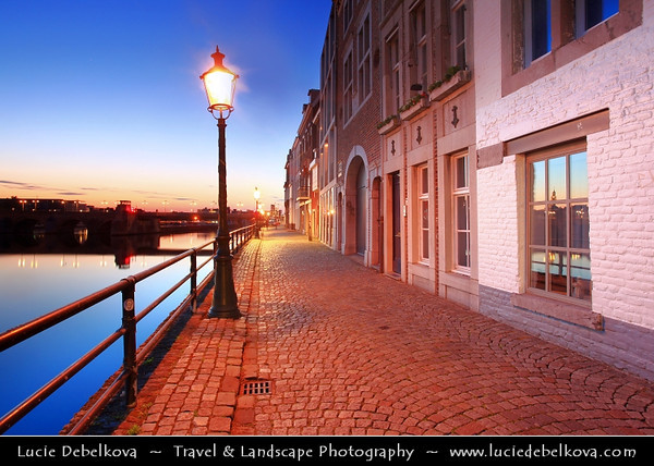 Europe - Netherlands - Nederland - Limburg Province - Maastricht - Mestreech - Maestricht - City of history located on both sides of river Meuse - Maas -