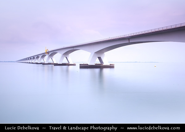 Europe - Netherlands - Nederland - Zeeland Province - Sea-land - Zealand - Zeelandbridge - Oosterscheldebridge